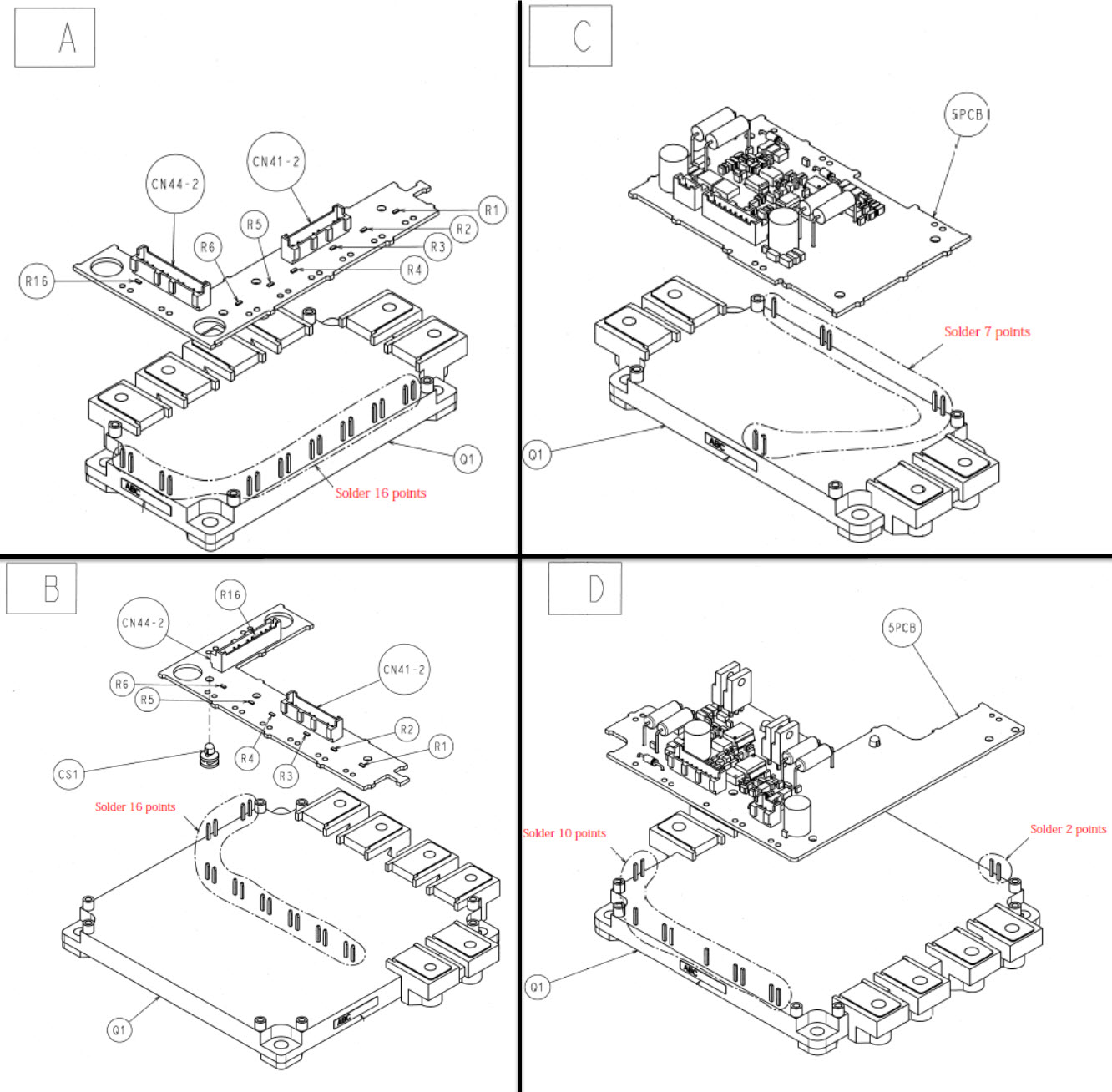 IGBT and Sub Gate Drive Kit Assembly for P1000, A1000 and
